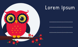 Vector card with owl. Stock Images