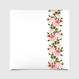Vector card with pink roses. Eps-10. Stock Photo
