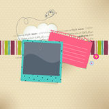 Vector card with place for photo and text Royalty Free Stock Images