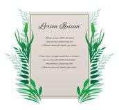 Vector card with place for your text Royalty Free Stock Image
