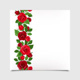 Vector card with red roses. Eps-10. Stock Photography