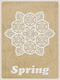 Vector Card with retro flower Royalty Free Stock Photos