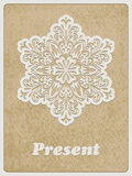 Vector Card with retro flower Stock Photography