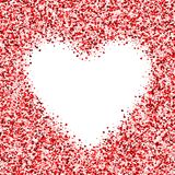 Vector card with shimmer Greeting card with hearts Royalty Free Stock Photography