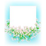 Vector card with small pink flowers Stock Images