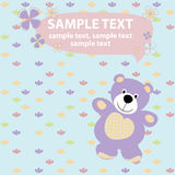 Vector  card with teddy bear Royalty Free Stock Images