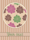 Vector card template with flowers pattern Stock Photography