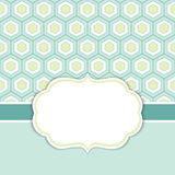 Vector Card Template with a Frame on Honeycomb Background with Space for Your Text. Royalty Free Stock Photography