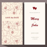 Vector card template for Save The Date, baby Royalty Free Stock Photos