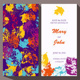 Vector card template for Save The Date, baby Royalty Free Stock Image