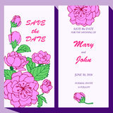 Vector card template for Save The Date, baby Royalty Free Stock Photo