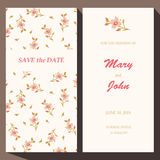 Vector card template for Save The Date, baby Stock Photography