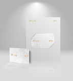Vector card template Royalty Free Stock Photography