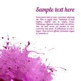 Vector card template with watercolor elements Stock Photography