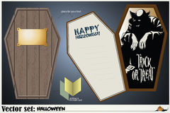 Vector card on a theme of Halloween Royalty Free Stock Photography