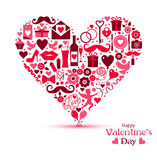 Vector card of Valentine Day. Stock Image