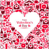Vector card of Valentine Day. Royalty Free Stock Photo