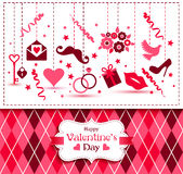 Vector card of Valentine Day. Royalty Free Stock Image