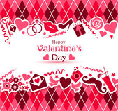 Vector card of Valentine Day. Royalty Free Stock Images