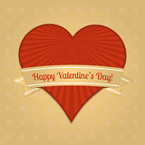 Vector card for Valentines Day Royalty Free Stock Images