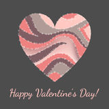 Vector card for Valentines day Royalty Free Stock Photography