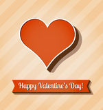 Vector card for Valentines Day Royalty Free Stock Photos