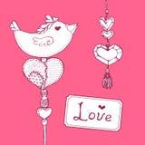 Vector card.  Valentines dayillustration. Stock Images