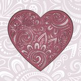 Vector Card. Vintage Card with Heart. Stock Image