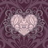 Vector Card. Vintage Card with Heart. Royalty Free Stock Photos