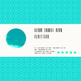 Vector card with watercolour circle in aqua blue Royalty Free Stock Photo