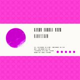 Vector card with watercolour circle in pink Royalty Free Stock Photo