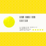 Vector card with watercolour circle in yellow Royalty Free Stock Image