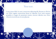 Vector card with Winter background Stock Images