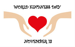 Vector card for World kindness day, november 13. Vector card for World kindness day celebrate on november 13 Stock Image