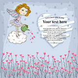 Vector Card for your design with fairy Royalty Free Stock Images