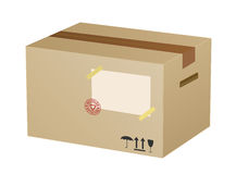 Vector cardboard box Royalty Free Stock Photos