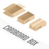 Vector cardboard box royalty free illustration