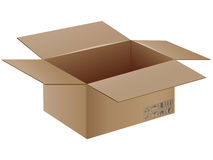 Vector cardboard box with transportation symbol. Royalty Free Stock Photography
