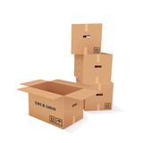 Vector Cardboard Boxes Royalty Free Stock Image