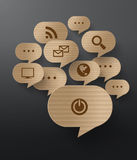 Vector Cardboard Graphics Royalty Free Stock Image
