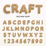 Vector cardboard letters. Stock Photos