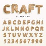 Vector cardboard letters. Stock Photos