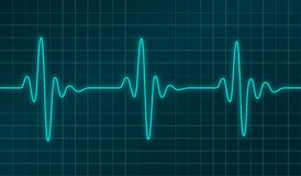 Vector cardiogram Royalty Free Stock Photography
