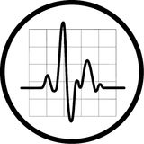 Vector cardiogram icon Stock Images