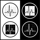 Vector cardiogram icons Royalty Free Stock Image