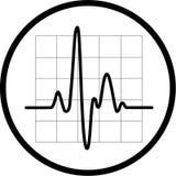 Vector cardiogrampictogram Stock Afbeeldingen