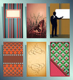 Vector cards Stock Photography