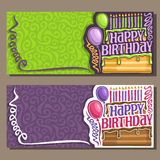 Vector cards Happy Birthday Royalty Free Stock Photo