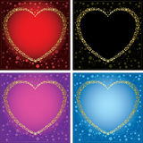 Vector cards with hearts - set of frames Royalty Free Stock Photography