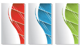 vector cards with scratch design Royalty Free Stock Images